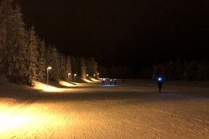 Večerné bežecké lyžovanie na Skalke