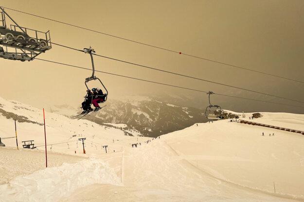 Lyžiarske stredisko vo švajčiarskom Anzere.