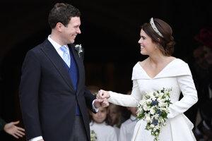 Princezná Eugenie a jej manžel Jack Brooksbank.
