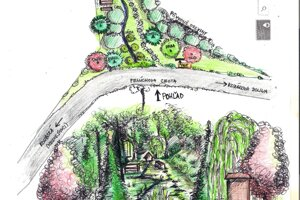 Vizualizácia obnovy studničky a jej okolia.