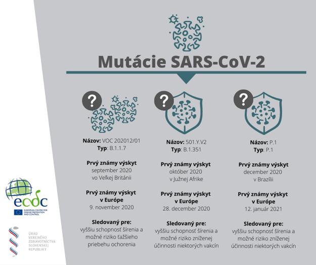 Priebežná správa o mutáciách SARS-CoV-2.