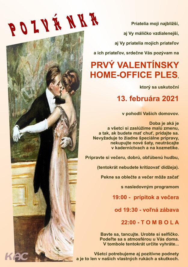 Najbližšie si ľudia môžu doma zorganizovať ples na Valentína.