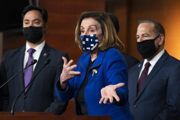 Nancy Pelosiová, predsedníčka Snemovne reprezentantov amerického Kongresu.