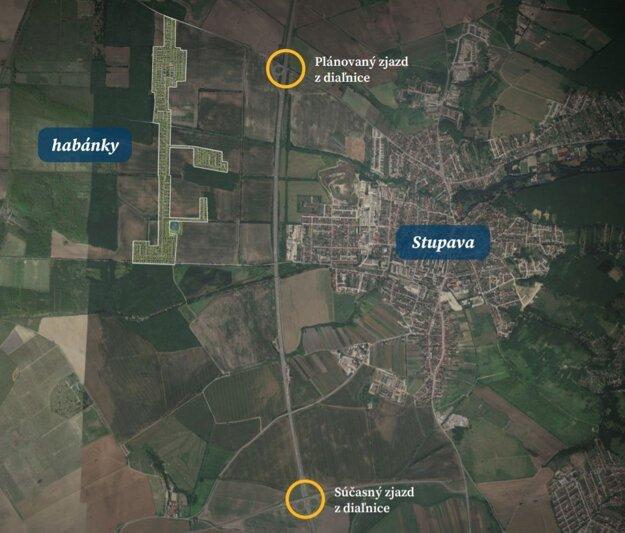 Kde má stáť nový diaľničný privádzač a nová štvrť Habánky