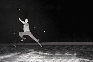 Karol Divín počas tréningu na majstrovstvách Európy 1958