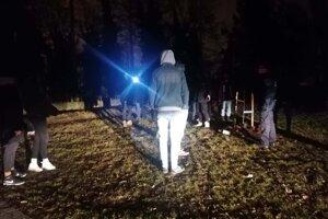 Zásah mestskej polície v Novom Meste nad Váhom.