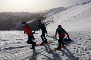 Skialpinistka v Širokom sedle potrebovala pomoc.