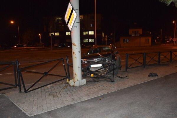 Nehoda v Poprade.