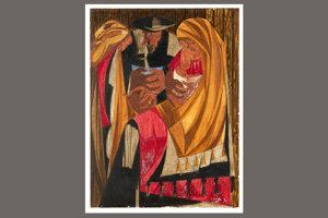 Panel 28 - Nájdený obraz zo série Jacob Lawrence: The American Struggle