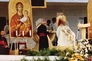 Na liturgii.