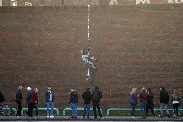 Dielo namaľované na múre bývalej väznice v anglickom meste Reading.