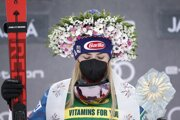 Mikaela Shiffrinová po triumfe v slalome.