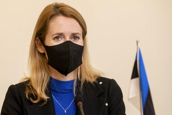 Estónska premiérka Kaja Kallasová.