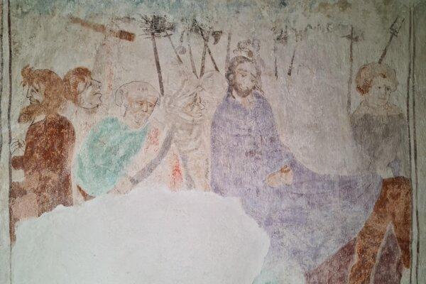 Kristus na Olivovej hore - maľba po reštaurovaní