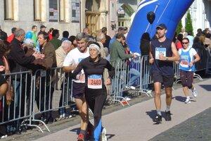 Pavel Závacký počas Medzinárodného maratónu mieru.