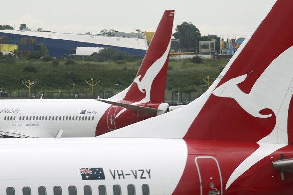 Lietadlá spoločnosti Qantas.