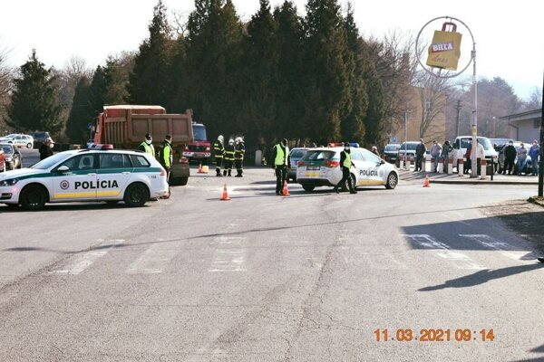 Nehoda v centre Fiľakova.