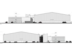 Pôvodný náčrt projektu MakFootball Arena.