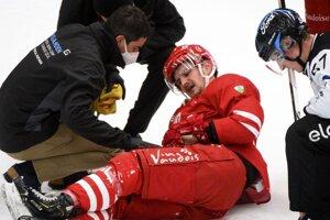 Libor Hudáček si v zápase proti Bielu zlomil holennú kosť.