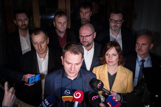 13. marec 2020. Igor Matovič po rokovaní budúcej koalície strán OĽaNO, SaS, Sme rodina a Za ľudí.