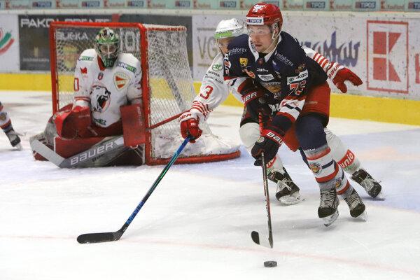 Patrik Marcinek v zápase proti DVTK.