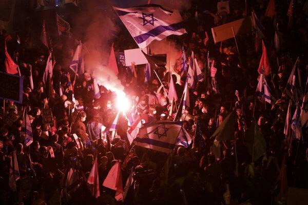 Protesty proti premiérovi v Izraeli