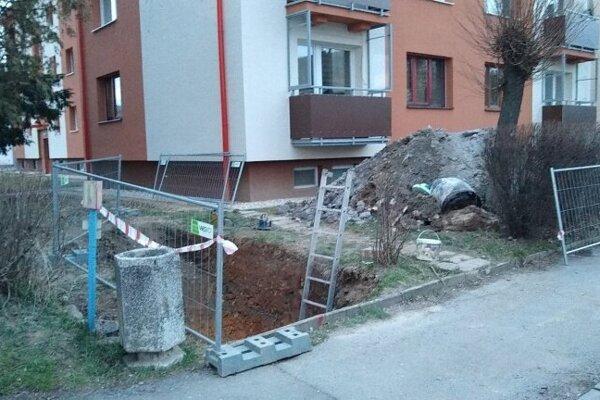 Havária na Školskej ulici.