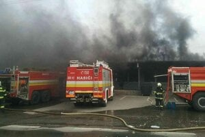 Požiar vo Vranove.
