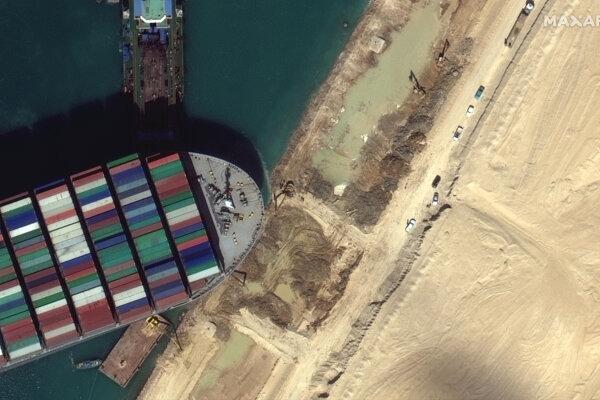 Loď Ever Given upchala Suezský prieplav.