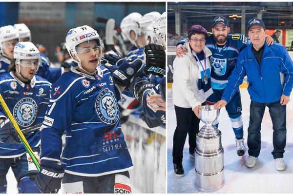 Nitrania hrajú svoj najlepší hokej v sezóne a tešia sa do play-off. Na jeho konci by si Slovákovci spravili so svojim synom (lídrom HK) podobne peknú fotku ako v roku 2016.