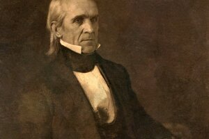 Prezident James Knox Polk - zobrazenie z roku 1849.