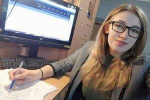 Anna Rusnáková, študentka Strednej odbornej školy obchodu a služieb.