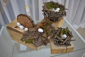 Veľkonočná dekorácia z prírodných materiálov