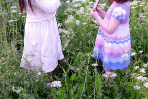Žofiine dcéry v záhrade.