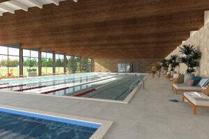 Vizualizácia plánovaného bazéna vHlohovci.