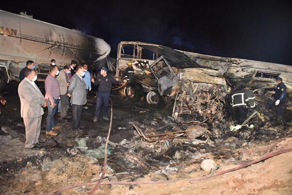 Nehoda v Egypte.