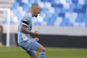 Vladimír Weiss ml. v drese ŠK Slovan Bratislava.