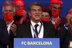 Na snímke Joan Laporta, prezident FC Barcelona.