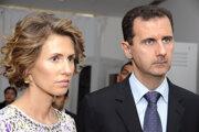 Sýrsky preident Baššár Háfiz al-Asad s manželkou Asmou.