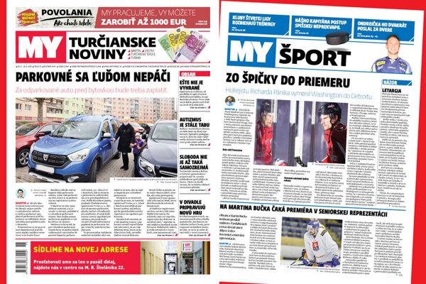 MY Turčianske noviny - najnovšie vydanie.