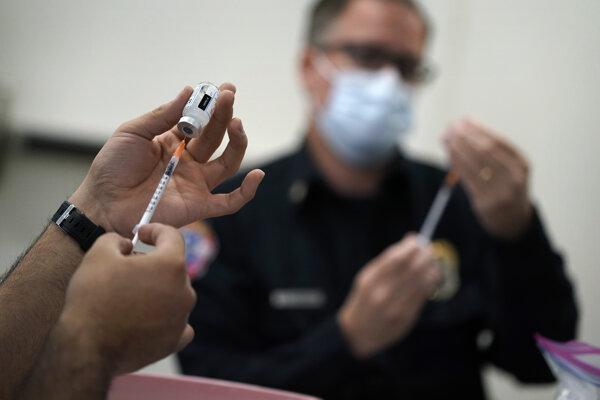 Očkovanie proti ochoreniu Covid-19.
