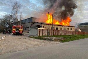 Požiar v Spišských Tomášovciach.