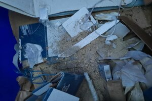 V kontajneri na papier našli aj piliny.