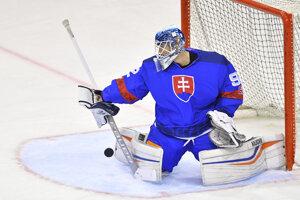 Andrej Košarišťan v drese slovenskej hokejovej reprezentácie.