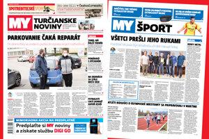 Prvá májová titulka MY Turčianskych novín.
