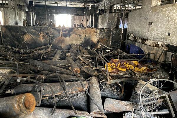 Vyhorená bagdadská nemocnica.