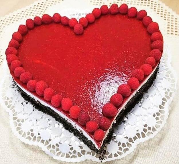 Malinovo-tvarohová torta