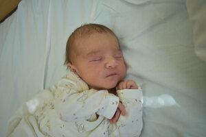 Mia Rácová (3180 g, 49 cm) sa narodila 2. mája Michaele a Michalovi z Bolešova