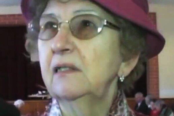Dcéra partizánskeho veliteľa Zora Uhrová.