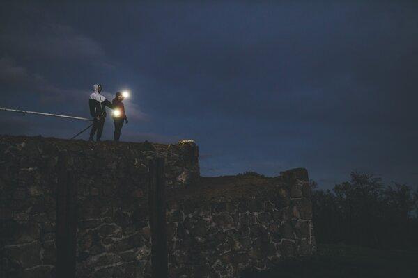 Svetelný lúč z Pustého hradu.